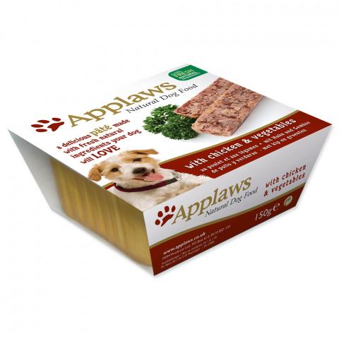 Консервы для собак - APPLAWS Dog Pate, с курицей и овощами, 150г title=
