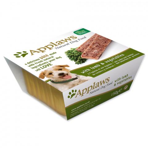 Konservi suņiem - APPLAWS Dog Pate, ar jēru un dārzeņiem, 150g title=