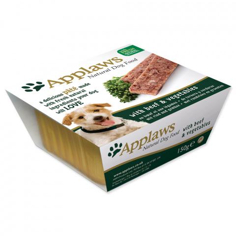 Консервы для собак - APPLAWS Dog, паштет с говядиной и овощами, 150г