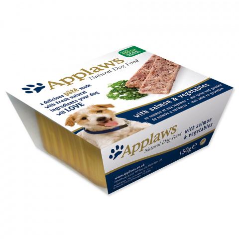 Консервы для собак - APPLAWS Dog Pate, с лососем и овощами, 150 г title=