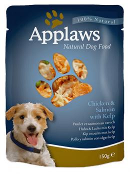 Konservi suņiem -  APPLAWS Dog Chicken & Salmon & Vegetables, 150g