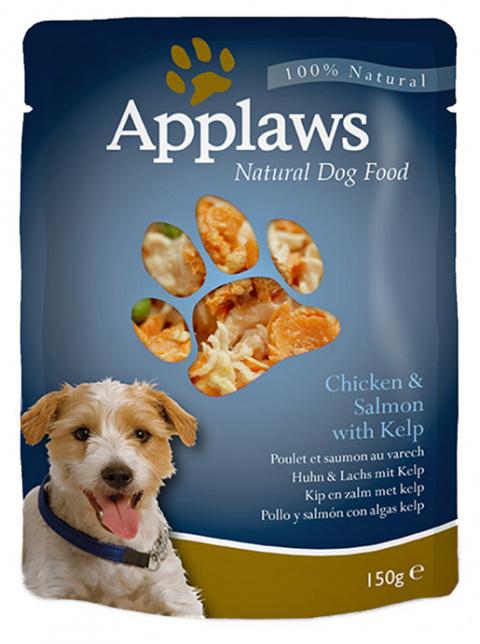 Консервы для собак - APPLAWS Dog Chicken & Salmon & Vegetables, 150г