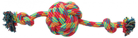 Игрушка для собак - Dog Fantasy Good's Cotton Ball with 2 knots, 38 cm title=