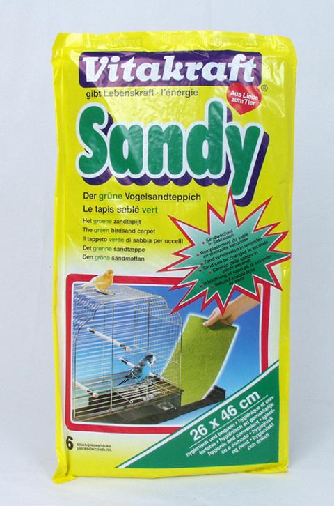 Аксессуар для птиц - Sandy 26*46cm, 6 шт title=