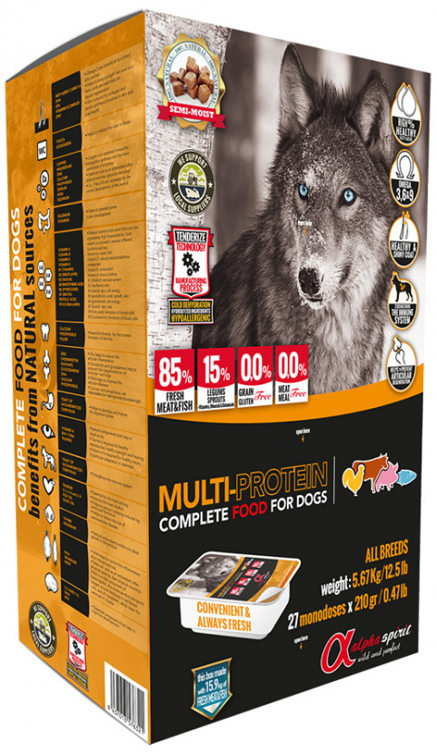 Корм для собак - ALPHA Spirit MultiProtein 5,6 kg title=