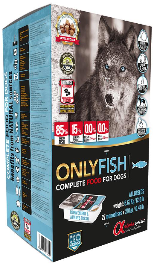 Barība suņiem - ALPHA Spirit Only Fish 5,6 kg