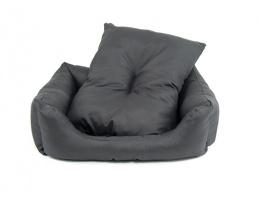 Guļvieta suņiem - Dog Fantasy DeLuxe Basic Sofa, 63*53*18 cm, krāsa - pelēka