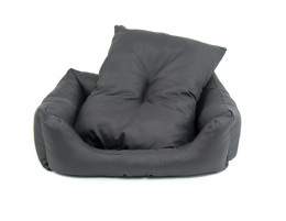 Лежанка для собак - Dog Fantasy DeLuxe Basic Sofa, 75*65*19 cm, цвет - серый