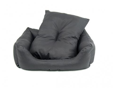 Guļvieta suņiem - Dog Fantasy DeLuxe Basic Sofa, 83*70*20 cm, krāsa - pelēka  title=
