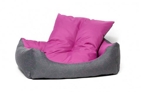 Guļvieta suņiem - Dog Fantasy DeLuxe Sofa, 63x53x18 cm, pink title=