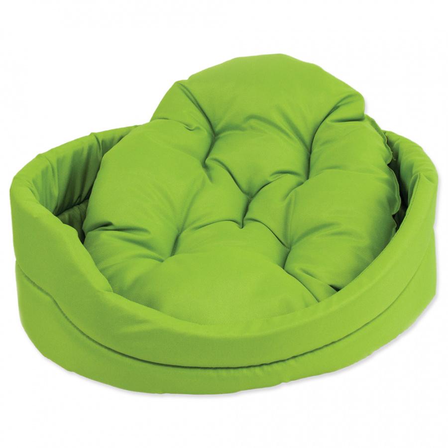 Guļvieta suņiem - DogFantasy DeLuxe oval bed, 54 x 46 x 16 cm, green