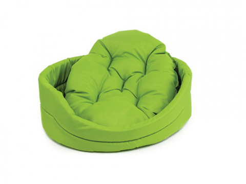 Лежанка для собак - Dog Fantasy DeLuxe oval bed, 100*87*22 cm title=
