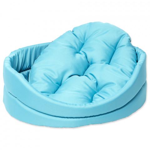 Guļvieta suņiem - DogFantasy DeLuxe oval bed, 48 x 40 x 15 cm, turgoise  title=