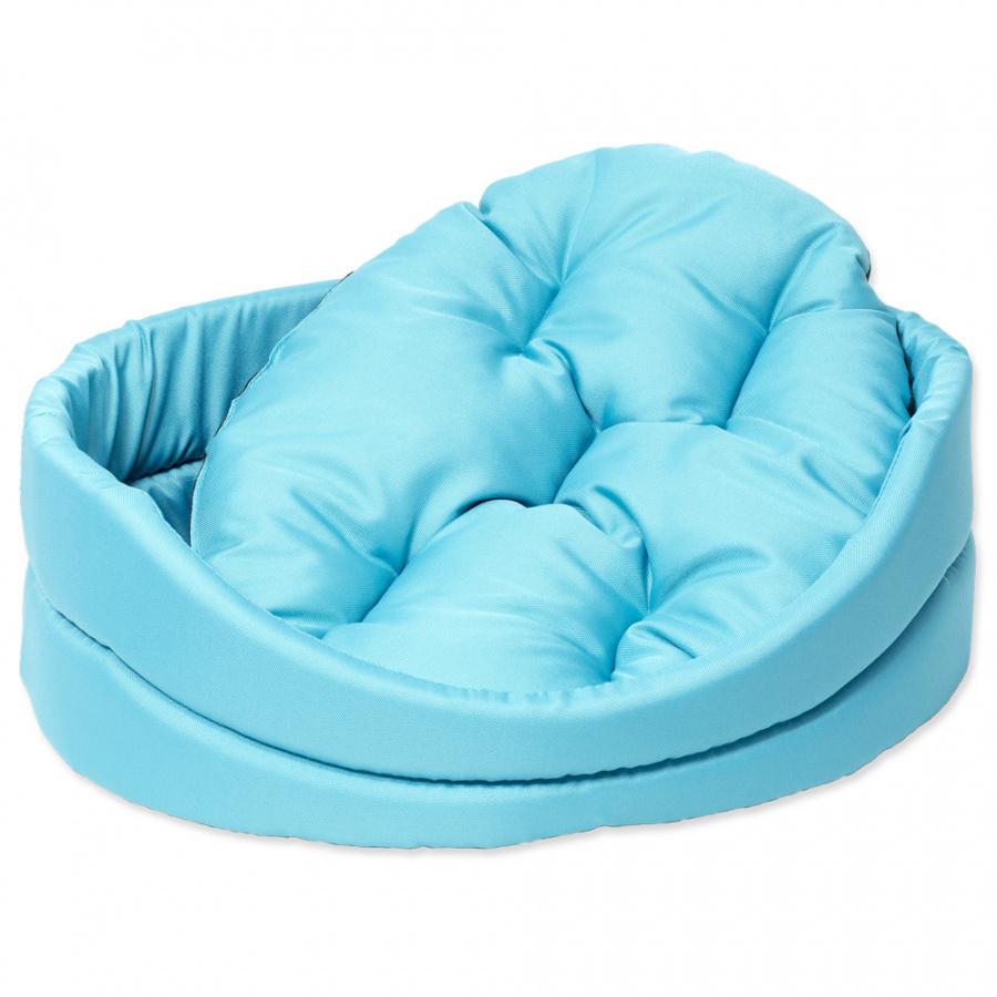 Guļvieta suņiem - DogFantasy DeLuxe oval bed, 48 x 40 x 15 cm, turgoise