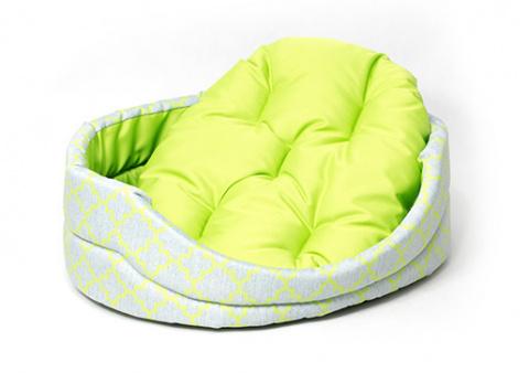 Лежанка для собак - Dog Fantasy DeLuxe oval, 50*41*15 cm