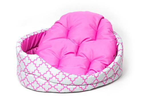 Лежанка для собак - Dog Fantasy DeLuxe oval, 77*67*19 cm