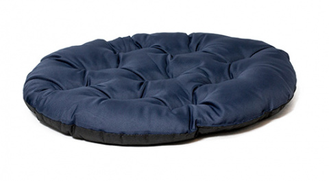Спальное место для собак - Dog Fantasy DeLuxe basic cushion, 78x66 cм, dark blue  title=