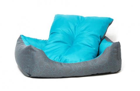 Спальное место для собак - Dog Fantasy DeLuxe Sofa, 53x43x16 cm, blue
