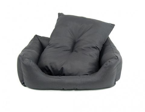 Лежанка для собак - Dog Fantasy DeLuxe Basic Sofa, 53*43*16 cm, цвет - серый