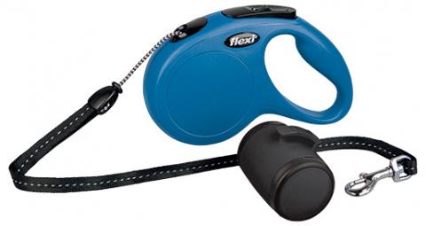 Поводок-рулетка для собак - FLEXI Vario Set + multi box, цвет - синий title=