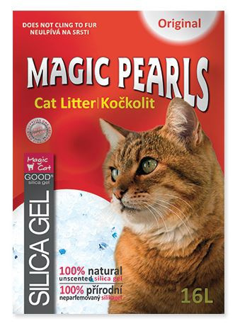 Silikona pakaiši kaķu tualetei - Magic Pearl Original, 16 L
