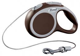 Поводок-рулетка для собак - FLEXI Vario Cord XS 3м, цвет - коричневый