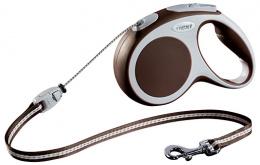 Поводок-рулетка для собак - FLEXI Vario Cord M 5м, цвет - коричневый