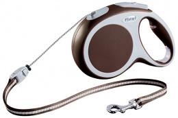 Поводок-рулетка для собак - FLEXI Vario Cord M 8м, цвет - коричневый