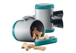 Aksesuārs inerces pavadām suņiem - Flexi Vario Multi box, zilzaļa