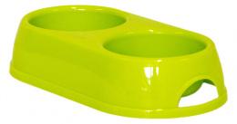 Миска для кошек - MAGIC CAT, пластик, двойной, зеленый, 2*230ml