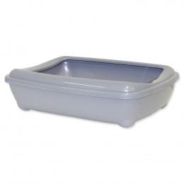 Туалет для кошек - Magic Cat Economy, серый, 50*38*14 cm