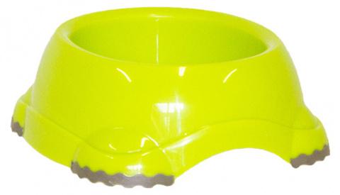 Миска для собак - DogFantasy, нескользящий, пластик, зеленый, 315 ml