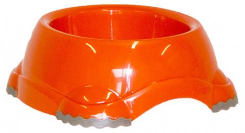 Миска для собак - DogFantasy, нескользящий, пластик, оранжевый, 315 ml