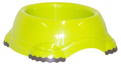 Bļoda suņiem - DogFantasy, neslīdoša, plastmasa, zaļa, 735 ml title=