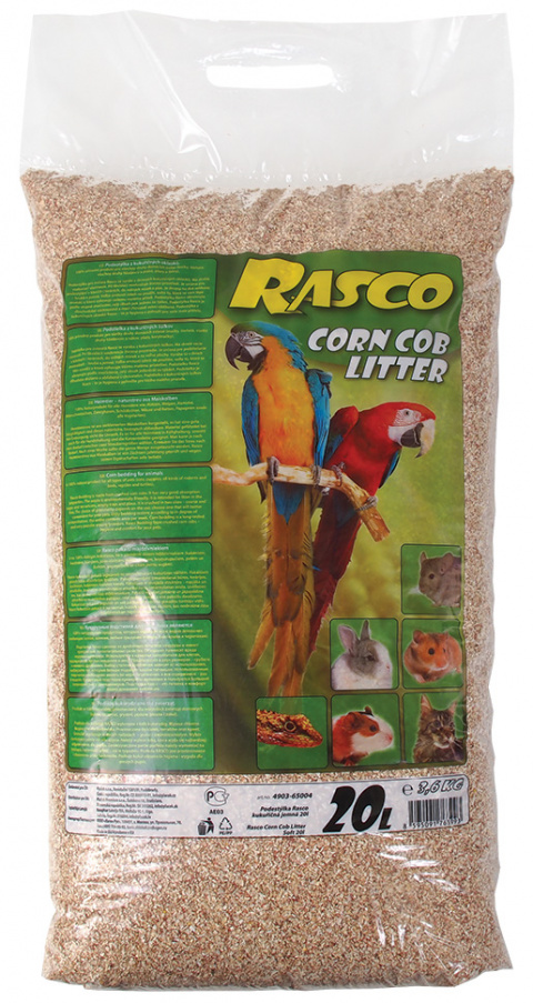 Pakaiši dzvniekiem - Rasco Corn Cob Litter, 20l