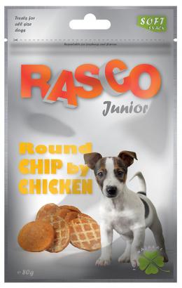 Gardums suņiem - Rasco Junior Round Chip by Chicken, 80g