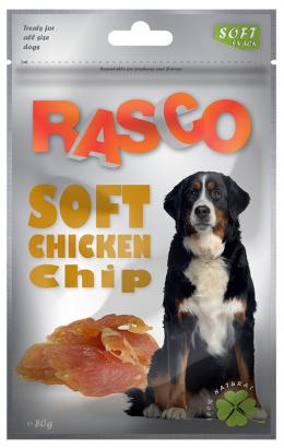 Gardums suņiem - Rasco Soft Chicken Chip, 80g