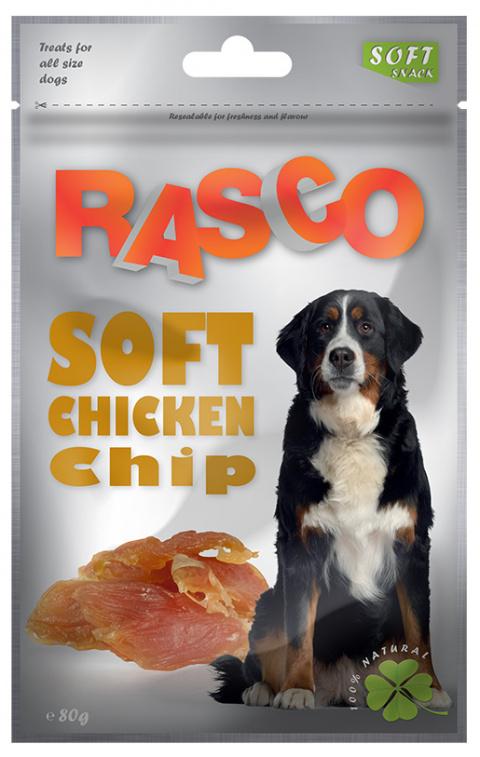 Лакомство для собак - Rasco Soft Chicken Chip, 80g