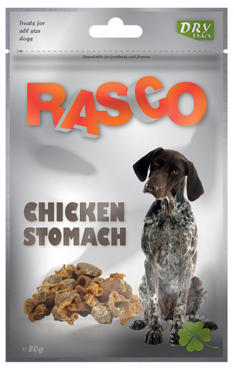 Лакомство для собак - Rasco Chicken Stomach, 80g title=