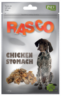 Лакомство для собак - Rasco Chicken Stomach, 80g