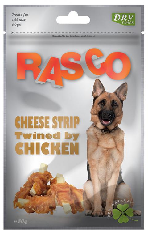 Лакомство для собак - Rasco Cheese Strip Twined by Chicken, 80g