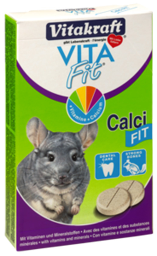 Papildbarība šinšillām - Vitakraft Chinchilla Calci Fit 30 tab.