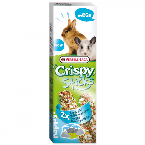 Лакомство для грызунов - Crispy Sticks for Rabbit and Chincilla Mountain Valle, 110 г title=