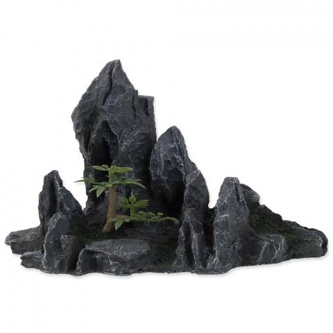 Dekors akvārijam - Aqua Excellent Rock with Plant, 21,5 x 10 x 12,5 cm title=