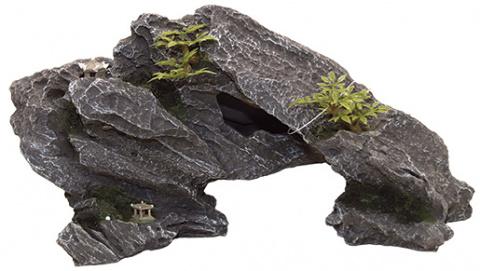 Декор для аквариумов - Aqua Excellent Rock with Plant, 34*12*17 cm title=