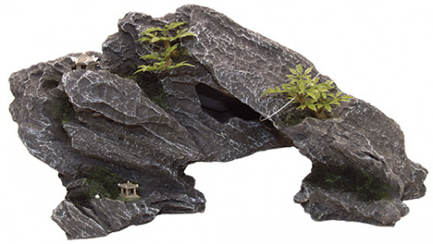 Dekors akvārijam - Aqua Excellent Rock with Plant, 34*12*17 cm