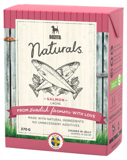 Konservi suņiem - Bozita Chunks in Jelly Dog Naturals Big Salmon, Tetra Pak, 370 g