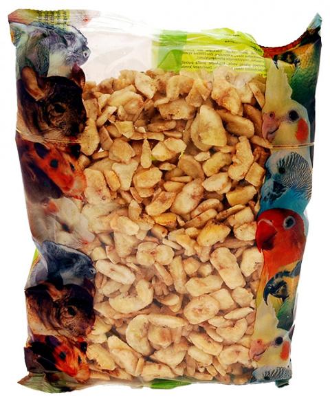 Papildbarība putniem un grauzējiem - APETIT banānu čipsi (400 gr) title=
