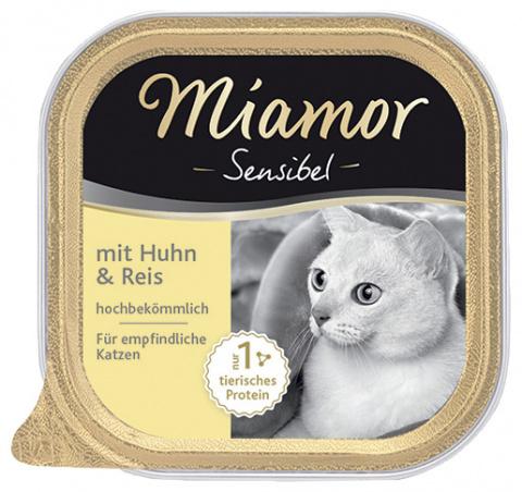 Konservi kaķiem - Miamor Feine Sensibel ar vistu un rīsiem, 100g
