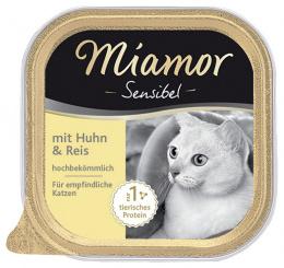 Консервы для кошек - Miamor Feine Sensibel с курицей и рисом, 100г
